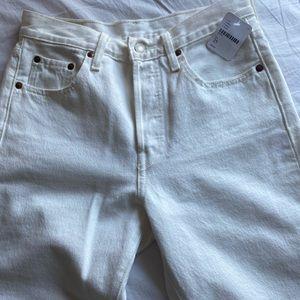Levi's Jeans - White 501 Levi's